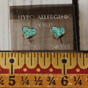 925 sterling silver heart earrings turquoise